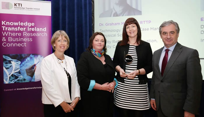 Alison Campbell, Ena Prosser, Emma O'Neill and Richard Stokes - Joint Winner Knowledge Transfer Achiever of the Year Award 2015