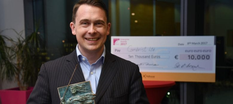 PwC Docklands Enterprise Award - Winner Jacob Claflin Cambrist New Frontiers Programme