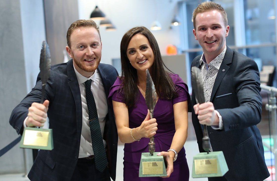 Winners of IBYE Overall IBYE 2019 Sharon Cunningham Martin O'Reilly (Output Sports) Sean McGarry (Showergem)